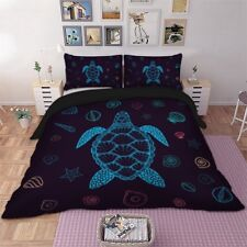 Simple turtle pattern Queen King Full Twin Szie Duvet Cover Set Pillow case new