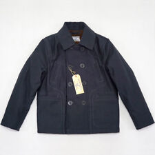 BOB DONG 740 Double-Breasted Pea Coat Winter Wool Lined Deck Jacket Mens Peacoat