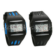 Men's Silicone Band Square Dial Multi-function Alarm Date Digital Wrist Watch