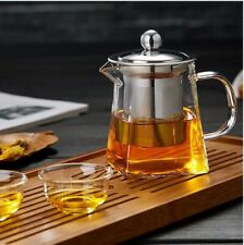 750ml Heat Resisted Clear Glass Teapot With Stainless Steel Infuser 3 In 1 Set