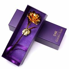 24K Gold Plated Rose Flower Valentine's Day Mothers Girlfriend Anniversary Gifts