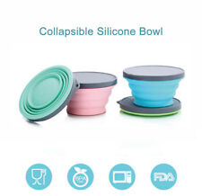 Collapsible Silicone Bowl with Lid 700mL Microwave Heating for Travel Office