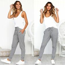 Women's Casual Sexy Comfort Striped Pants Polyester High Waist Beam Foot Pants--