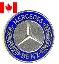 "Embroidered patch Iron / Sew on MERCEDES Car Logo, 4"" Craft Applique Collectible"