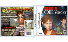 Sega Dreamcast Jewel Case Resident Evil Code Veronica (White & Black Label)
