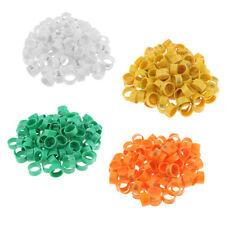 100pcs Clip On Leg Rings for Chickens, Chick, Quail, Pigeon, Poultry, Bantam