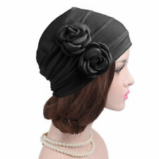 Women Elastic Flowers Head Wrap Cap Hat Chemo Beanie Bonnet Turban Hijab Cap