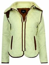 LADIES COAT JACKET GILET EQUESTRIAN WINTER SIZE PADDED 2 in 1 FUR COLLAR NEW