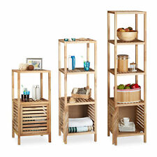 Bathroom Shelf Cabinet, Wooden Caddy, Free Standing, Rack Open Storage Unit