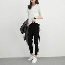 Casual Pants Trousers High Waist Breathable Sports Women.Girl Polyester Fashion