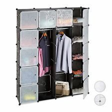 Modular Wardrobe System, 14 Compartments, Plastic Wardrobe Closet Shoe Cabinet