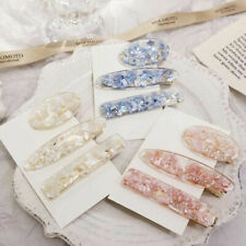 Fashion Vintage Oval Acrylic Hair Clips Barrette Hairpins Hair Accessories Gifts
