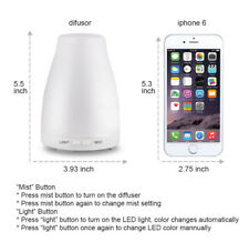 120ML Ultrasonic Aromatherapy Essential Oil Diffuser Humidifier 7Color LED Light