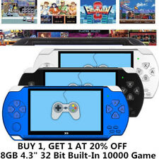 """8GB 4.3"""" 32 Bit Built-In 10000 Game Portable Handheld Video Game Console Player#"""