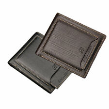 Men's Bifold Leather Short Wallet ID Credit Card Holder Billfold Purse Clutch