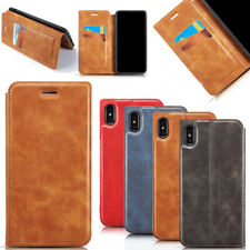 Genuine Leather Slim Shockproof Case Cover For Apple iPhone XS Max XR X 7 8 Plus