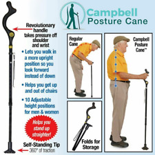NEW Campbell Posture Cane™ - Walking Cane with Adjustable Heights As Seen on TV