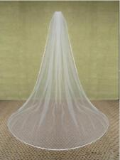 White/ivory 2.7M Wedding Veil cathedral Veils With Comb satin edge Bridal veil