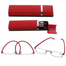 Portable Ultralight Half Frame Reading Glasses Semi Rimless Reader Eyeglasses