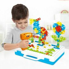 Building Blocks Electric Drill Toys For Kids Early Educational Assembled Mosaic