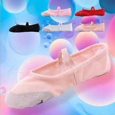 New Adult Child Girl Gymnastics Ballet Dance Shoes Canvas Slippers Pointe Dance