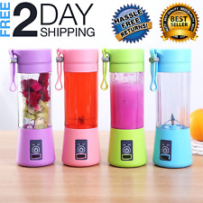 380ml USB Juicer Cup Handheld Fruit Smoothie Maker Blender Portable Rechargeable