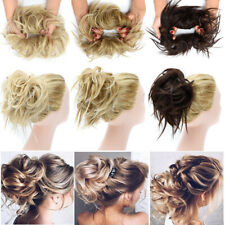 X-Large Thick Messy Bun Hair Scrunchie Updo Hair Extensions as Human Wedding US