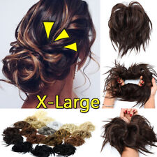 X-LARGE Messy Bun Hair Piece Scrunchie Updo Wrap Hair Extensions as Human THICK