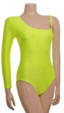 Lycra Leotard One Arm Plain Front - Flo Colours Dance Leotars (#UNA)