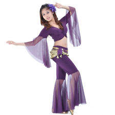 SF39# Belly Dance Costume Set of Flared Top and Pants 9 Colors
