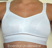 2 X HIGH-IMPACT SPORTS BRA, NON WIRED, BLACK & WHITE, ALL SIZES, ONLY £12.50!