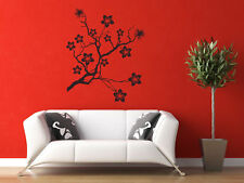 Wall Decal Tree Asian Floral Flower Cherry Blossoms Botanical Branches Blooms