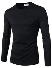 (TRP) TheLees Mens casual Button Decoration Turtle Neck Slim Fit Basic Tshirts