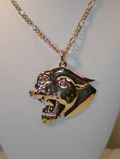 """Hip Hop 30"""" Gold Plated Chain Pendant Necklace Ed Hardy"""