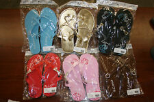 L.O.V.E. Flip Flops (Group of 6) In Various Colors NEW