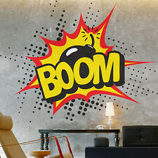 Vinyl Wall Sticker Art Decal : BOOM Pop Art Retro Comic