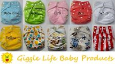 10 Giggle Life Bamboo Cloth Pocket Diapers, 20 Inserts
