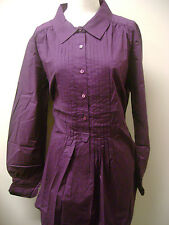 Motto Long Sleeve Woven Tunic with Pleating NWOT