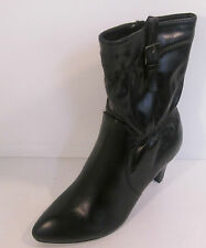 Ladies Coco black man made ankle boot slim 3.25 heel L8554
