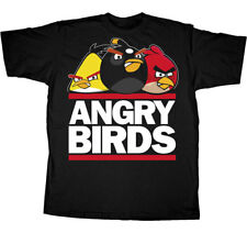 T-Shirt Tee ANGRY BIRDS NEW Run Birds (MEN) Adult Black