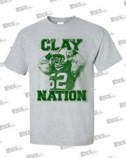 CLAY-NATION T-Shirt - GREY: Clay Matthews GB Packers
