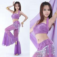 SF37# New Shimmer Belly Dance Costume Top & Pants 11 Colors