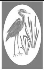 HERON static cling etched glass window decal
