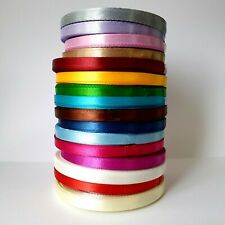 22 -25 Mtrs 6mm Satin Ribbon by Roll