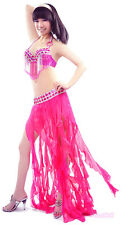 New Belly Dance Costume 2 Pics Bra&Skirt 34B/C 36B/C 38B/C 10 Colors