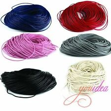 Various Bulk Real Leather Without Clasps Necklace Cords 2mm