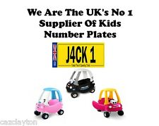 PERSONALISED NUMBER PLATE FOR LITTLE TIKES