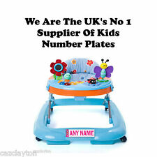 "PERSONALISED NUMBER PLATE FOR YOUR BABY WALKER ""PINK"""
