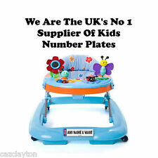 PERSONALISED NUMBER PLATE FOR YOUR BABY WALKER