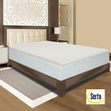 SERTA 2, 3 or 4 Inch 4 Pound Density Memory Foam Mattress Topper Pad Made in USA